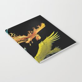 The Three Legendary Birds Notebook