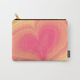 Abstract Tropical Pastel Rainbow Heart Pattern | Valentine's Day Carry-All Pouch