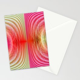 Circle pink and green Stationery Cards