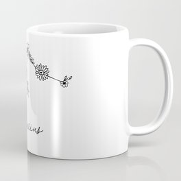 Aquarius Floral Zodiac Constellation Coffee Mug