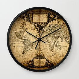 World Map 1752 Wall Clock
