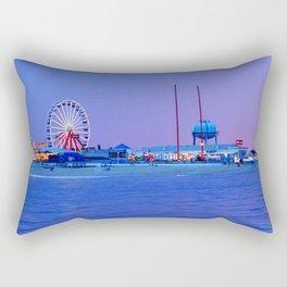 Ocean City Night Rectangular Pillow