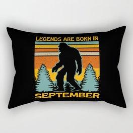 Legends Are Born In September  Bigfoot Rectangular Pillow