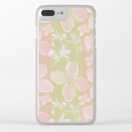 Faded Flowers Clear iPhone Case