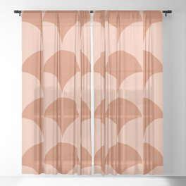Cleo Pattern - Sunset Sheer Curtain