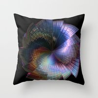 metal Throw Pillows featuring Metal by Brian Raggatt