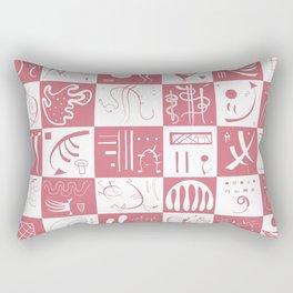 Kandinsky - White and Rose Pattern - Abstract Art Rectangular Pillow