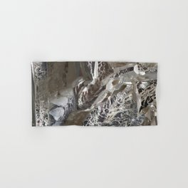 Silver Crystal First Hand & Bath Towel