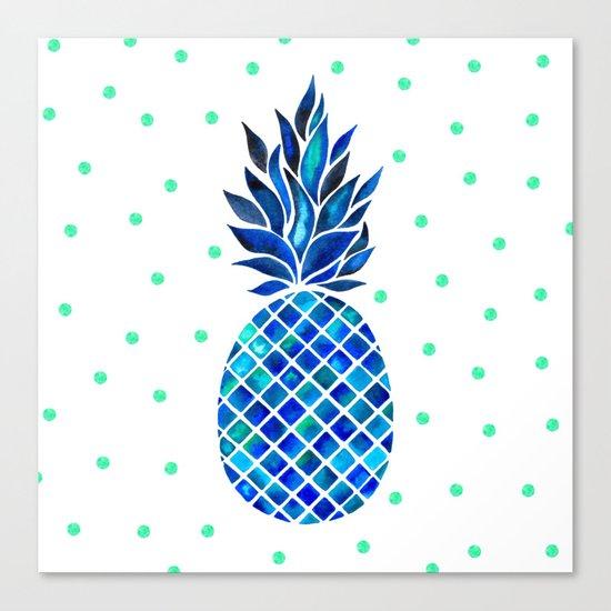 Maritime Pineapple Canvas Print