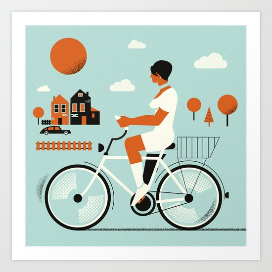 Bike riding ... Art Print