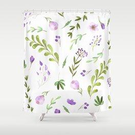 Purple Flower Field Shower Curtain