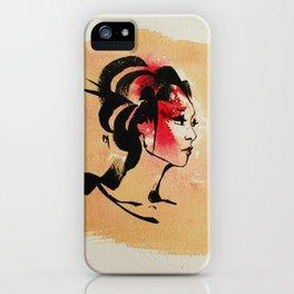 Spring Geisha iPhone Case