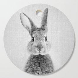 Rabbit - Black & White Cutting Board
