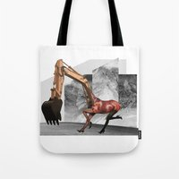 mustang Tote Bags featuring Mustang by Lerson