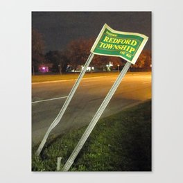 Welcome To Redford Township Canvas Print