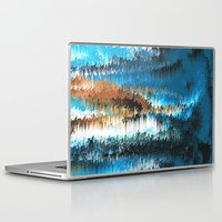 chihiro Laptop & iPad Skins featuring Blue Forest Shades by Alix Rumble