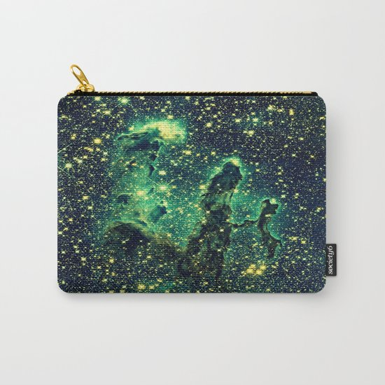Galaxy NEBULa  : Pillars of Creation Green Carry-All Pouch