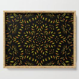 Orange and Yellow Kaleidoscope Serving Tray