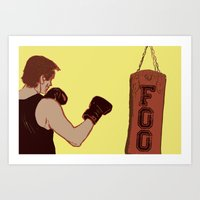 foo fighters Art Prints featuring Foo Fighter by Kramcox
