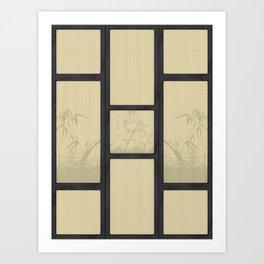 Tatami - Bamboo Art Print
