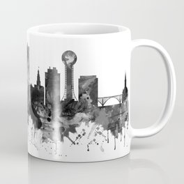 Knoxville Tennessee Skyline BW Coffee Mug