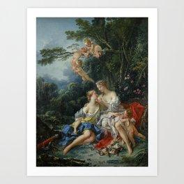 François Boucher - Jupiter and Callisto Art Print