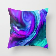 turquiose and purple abstract Throw Pillow