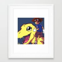 digimon Framed Art Prints featuring Digimon by Viga Victoria Gadson