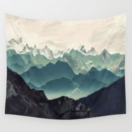 Shades of Mountain Wall Tapestry