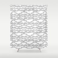arya stark Shower Curtains featuring Stark Hills by SonyaDeHart