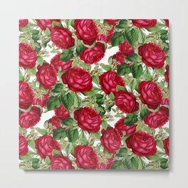 Crimson Rose Bower Metal Print