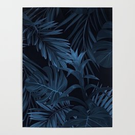 Custom Marquette Palm Tree Pattern Poster