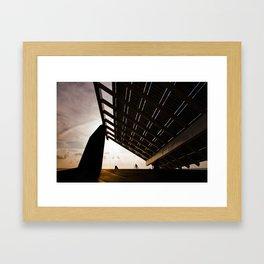 Solar Umbrella Framed Art Print
