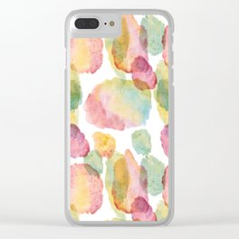 rainbow waterolor abrstract Clear iPhone Case