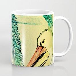 50,S RETRO PELICAN TROPICAL ART DECO PRINT Coffee Mug