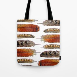 Raptor Feathers Tote Bag
