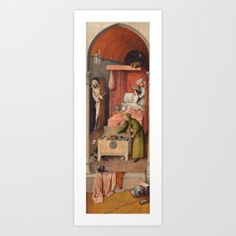 """Hieronymus Bosch """"Death and the Miser"""" Art Print"""