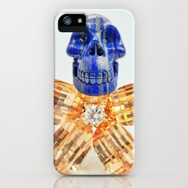 Lapis-Skull with Jewels-Body iPhone Case