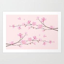 Cherry Blossom - Pink Art Print