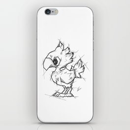 Chocobo Handmade Drawing, Made in pencil and ink, Tattoo Sketch, Final Fantasy Art iPhone Skin