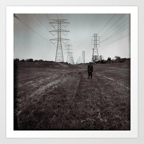 Electric Field Art Print