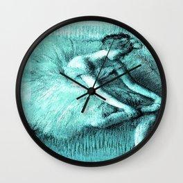 Aqua Ballerina Wall Clock
