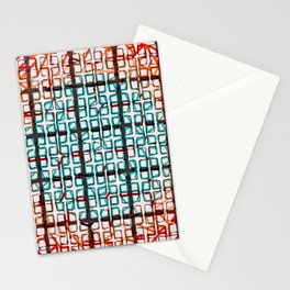 Color line abstract design print Stationery Cards