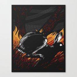 Run Rabbit Canvas Print