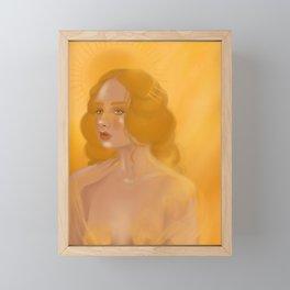 the sun Framed Mini Art Print
