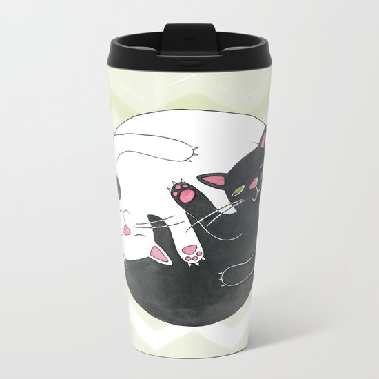 Cat Philosophy Metal Travel Mug