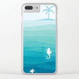 Desert island Clear iPhone Case