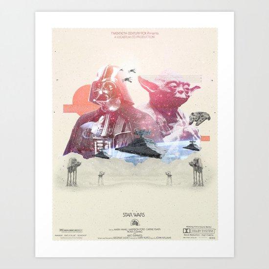 Star Wars  - 3 Art Print