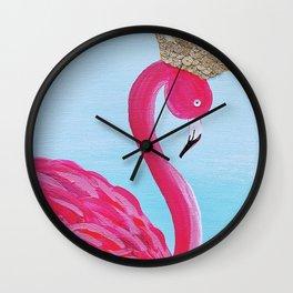 Felicity the Flamingo Wall Clock