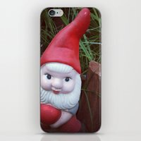 gnome iPhone & iPod Skins featuring Chubby Gnome by ADH Graphic Design